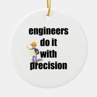 los ingenieros lo hacen con la precisión adorno navideño redondo de cerámica