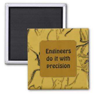 Los ingenieros lo hacen con la precisión imán cuadrado