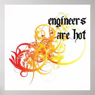 Los ingenieros son calientes posters