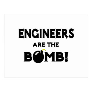 ¡Los ingenieros son la bomba! Postal