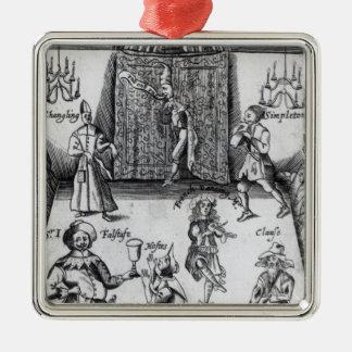 Los ingenios, o, deporte sobre el deporte, 1662 adorno navideño cuadrado de metal