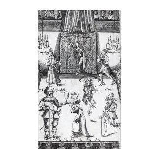 Los ingenios, o, deporte sobre el deporte, 1662 impresión en lienzo estirada