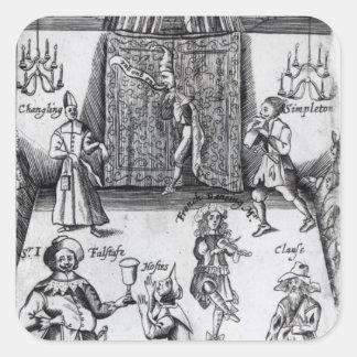 Los ingenios, o, deporte sobre el deporte, 1662 pegatina cuadrada