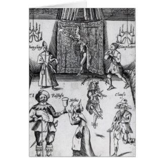 Los ingenios, o, deporte sobre el deporte, 1662 tarjeta de felicitación