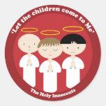 Los Innocents santos Etiquetas Redondas