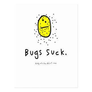Los insectos chupan postales