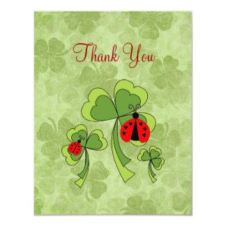 """Los insectos del amor del día de St Patrick le Invitación 4.25"""" X 5.5"""""""