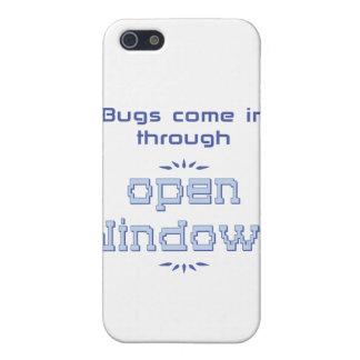 Los insectos vienen adentro a través de ventanas iPhone 5 fundas