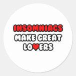 Los Insomniacs hacen a grandes amantes Pegatinas