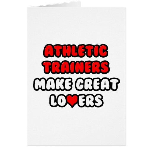 Los instructores atléticos hacen a grandes amantes tarjeta de felicitación
