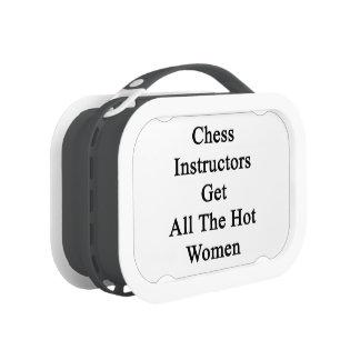 Los instructores del ajedrez consiguen a todas las