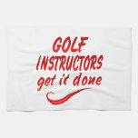 Los instructores del golf lo consiguen hecho toalla