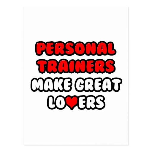 Los instructores personales hacen a grandes amante postales