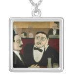 Los intelectuales en el café Rotonde, 1916 Colgante Cuadrado