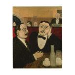 Los intelectuales en el café Rotonde, 1916 Impresión En Madera