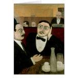 Los intelectuales en el café Rotonde, 1916 Tarjeta De Felicitación