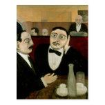 Los intelectuales en el café Rotonde, 1916 Postales