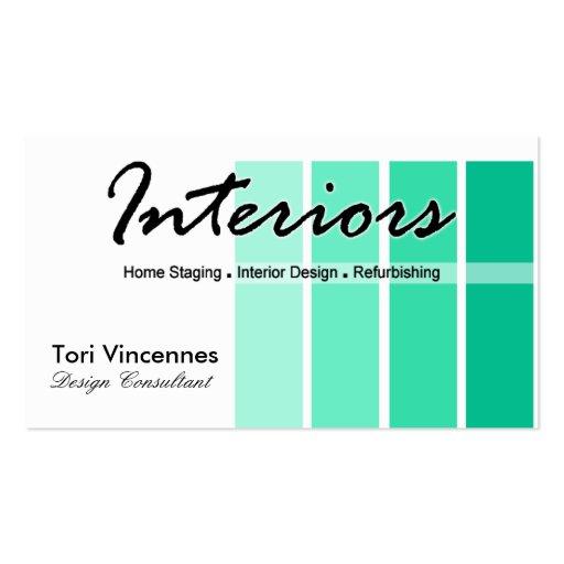 Los interiores se dirigen negocio del diseñador de tarjeta de visita