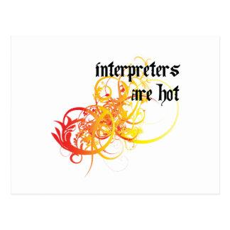 Los intérpretes son calientes postal
