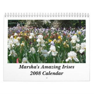 Los iris asombrosos de Marsha Cale 2008… Calendario