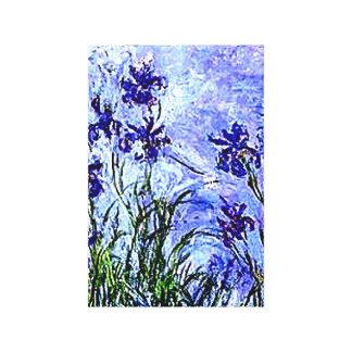 Los iris de Claude Monet envolvieron la lona Impresión En Lienzo