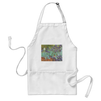 Los iris de Vincent van Gogh, vintage florecen Delantal