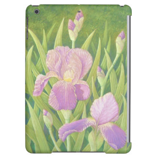 Los iris en Wisley cultivan un huerto, caja del