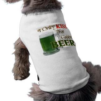 Los irlandeses besan 4 la cerveza - St Patrick Camisas De Perritos