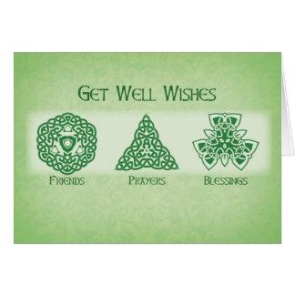 Los irlandeses consiguen los deseos bien, tarjeta de felicitación