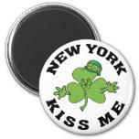 Los irlandeses de Nueva York me besan regalo Imán Redondo 5 Cm