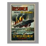 ¡Los irlandeses del Lusitania del vintage se Postal