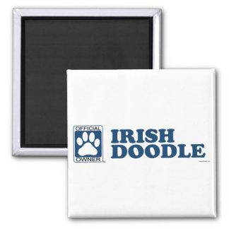 Los irlandeses Doodle el azul Imán Cuadrado