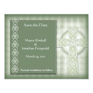 """Los irlandeses elegantes de la cruz céltica del invitación 4.25"""" x 5.5"""""""