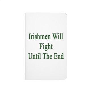 Los irlandeses lucharán hasta el fin cuadernos grapados