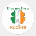 Los irlandeses personalizados me besan que soy etiquetas redondas