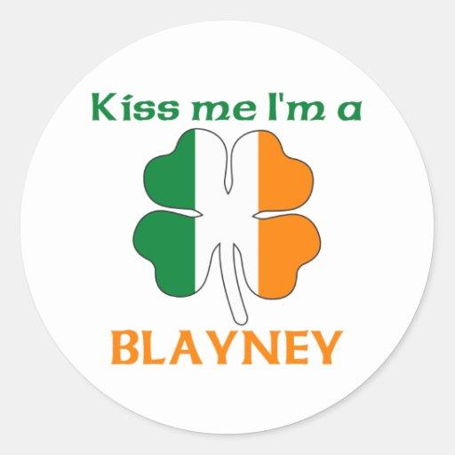Los irlandeses personalizados me besan que soy pegatina redonda