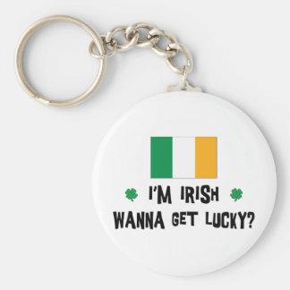 Los irlandeses quieren conseguir afortunados llavero redondo tipo pin