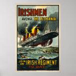 Los irlandeses se vengan el poster del vintage del