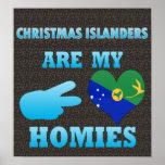 Los isleños del navidad son mi Homies Poster