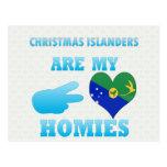 Los isleños del navidad son mi Homies Tarjeta Postal