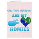 Los isleños del navidad son mi Homies Tarjetas