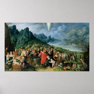 Los Israelites en el banco del Mar Rojo, 1621 Póster