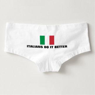 Los italianos divertidos mejora la ropa interior calzones para mujer