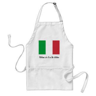 Los italianos lo hacen en el delantal de la cocina