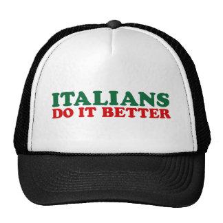 Los italianos mejora gorros bordados