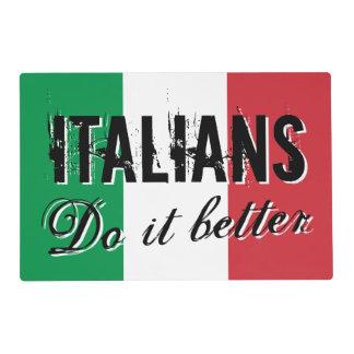 Los italianos mejora la bandera divertida del tapete individual