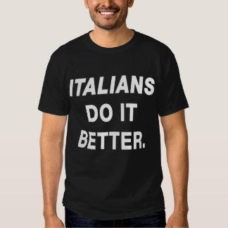 Los italianos mejora la camiseta divertida remeras