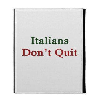 Los italianos no abandonan