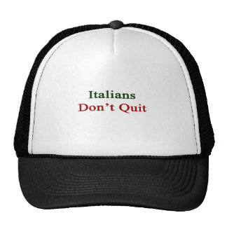 Los italianos no abandonan gorro de camionero