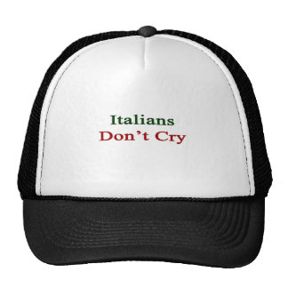 Los italianos no lloran gorro de camionero